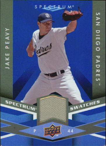 Photo of 2009 Upper Deck Spectrum Spectrum Swatches Blue #SSJP Jake Peavy
