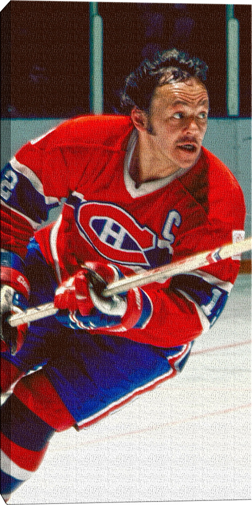 Yvan Cournoyer - 14x28 Montreal Canadiens Canvas