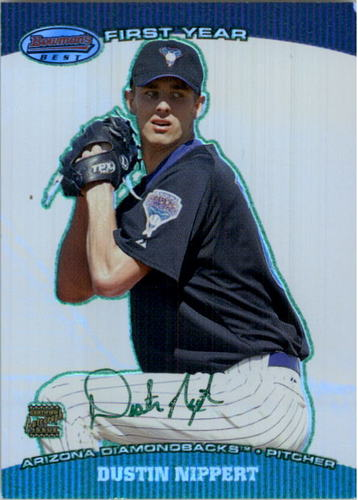 Photo of 2004 Bowman's Best Green #DDN Dustin Nippert FY AU