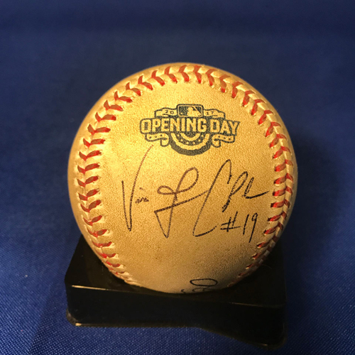 Photo of UMPS CARE AUCTION: Cincinnati Reds Opening Day Baseball Signed by Umpire Crew