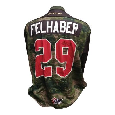 #29 Tye Felhaber Game Worn Army Theme Jersey