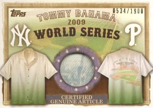 Photo of 2010 Topps Tommy Bahama World Series Memorabilia #BM Tommy Bahama Shirt