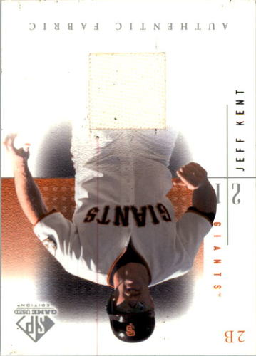 Photo of 2001 SP Game Used Edition Authentic Fabric #JK Jeff Kent