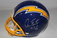 HOF - CHARGERS DAN FOUTS SIGNED CHARGERS PROLINE HELMET