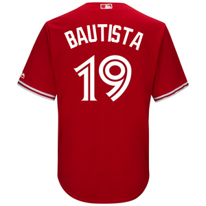 Toronto Blue Jays Youth Jose Bautista CB Alt Red Screen Print Jersey by Majestic