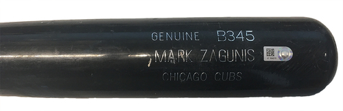 Photo of Mark Zagunis Game-Used Cracked Bat -- Cubs at Nationals -- 6/28/17