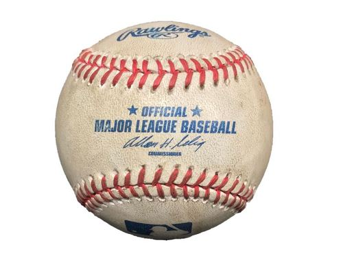 Photo of Game-Used Baseball from Pirates vs. Dodgers on 6/16/13 - Cole to Punto, Pitch in the Dirt