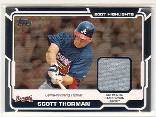 Photo of 2008 Topps Highlights Relics #ST Scott Thorman B2
