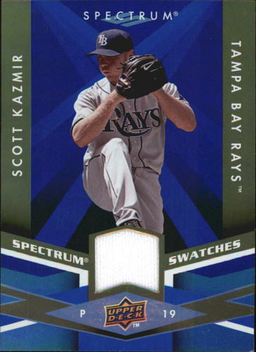 Photo of 2009 Upper Deck Spectrum Spectrum Swatches Blue #SSSK Scott Kazmir