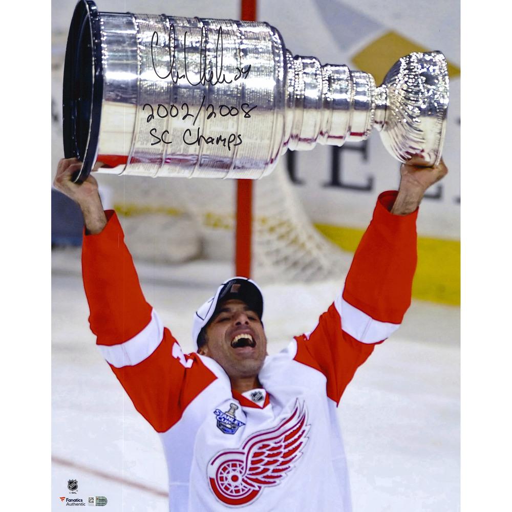 Chris Chelios Detroit Red Wings Autographed 16