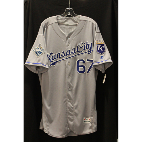 Photo of Game-Used Chien-Ming Wang Jersey (KC at SEA 4/30/16) - Size 50
