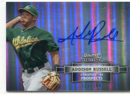 Photo of 2012 Bowman Sterling Prospect Autographs Refractors #AR Addison Russell Cubs post-season