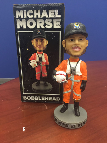 Photo of Marlins Charity Auction, Michael Morse May the Morse Be With You Bobblehead