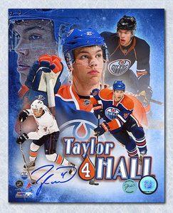 Taylor Hall Edmonton Oilers Autographed Collage 8x10 Photo