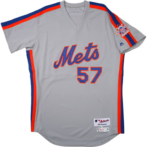 Photo of New York Mets 1986 Throwback Complete Game-Used Uniform Set - Kevin Long