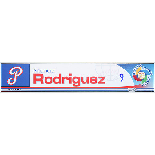 Photo of 2006 Inaugural World Baseball Classic: Manuel Rodriguez Locker Tag (PAN) Game-Used Locker Name Plate