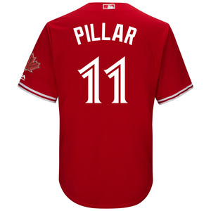 Toronto Blue Jays Youth Kevin Pillar CB Alt Red Screen Print Jersey by Majestic