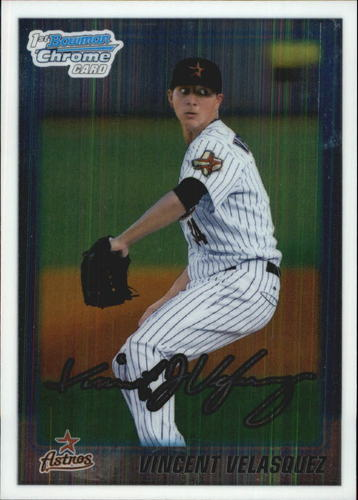 Photo of 2010 Bowman Chrome Draft Prospects #BDPP45 Vincent Velasquez Pre-Rookie Card