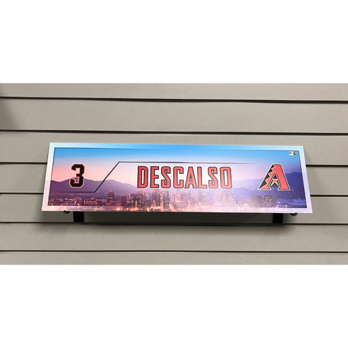 Daniel Descalso Game-Used 2017 Nameplate