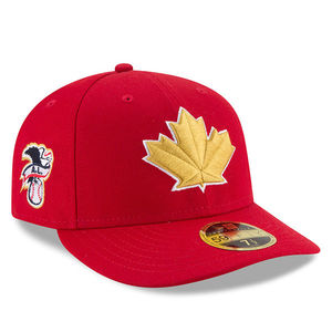 Toronto Blue Jays Authentic Collection 2018 Canada Day Lown Crown Fitted Cap by New Era