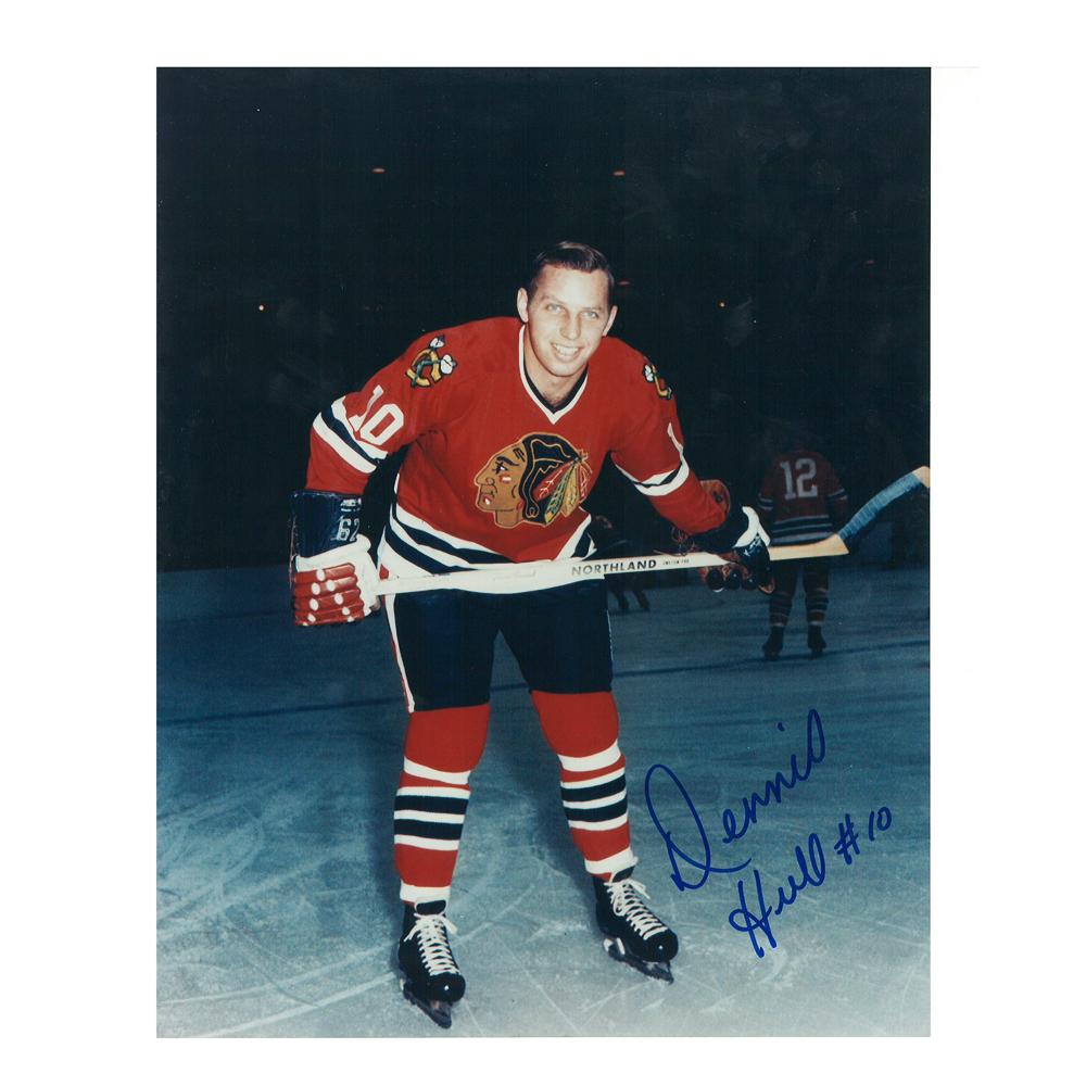 DENNIS HULL Signed Vintage Chicago Blackhawks 8 X 10 Photo - 70154