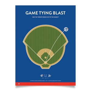 Toronto Blue Jays Collectible Alomar '92 Game Tying Blast Print 18