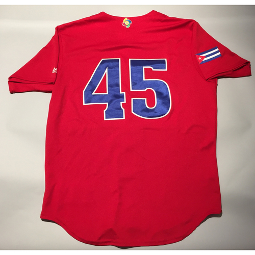 Photo of 2017 WBC: Cuba Game-Used Batting Practice Jersey, #45