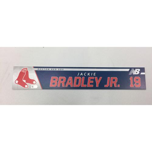Jackie Bradley Jr. August 6, 2017 Game-Used Locker Tag