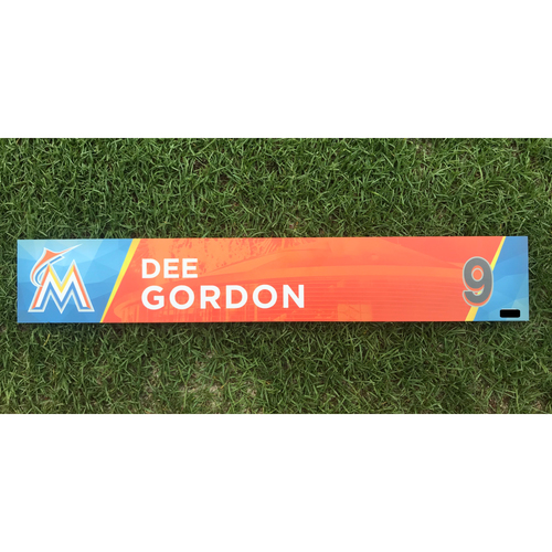 Dee Gordon Game-Used Locker Tag - 200th Hit of 2017