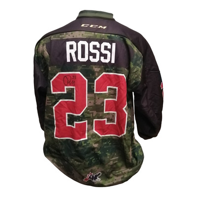 #23 Marco Rossi Game Worn Army Theme Jersey