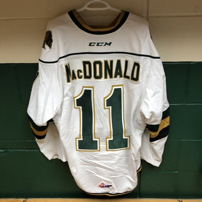 Owen MacDonald 2016-2017 White Game Jersey