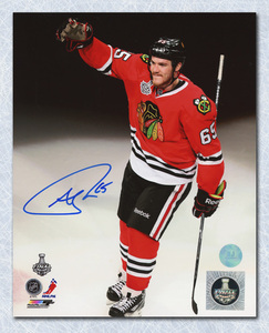 Andrew Shaw Chicago Blackhawks Autographed Cup Finals Salute 8x10 Photo