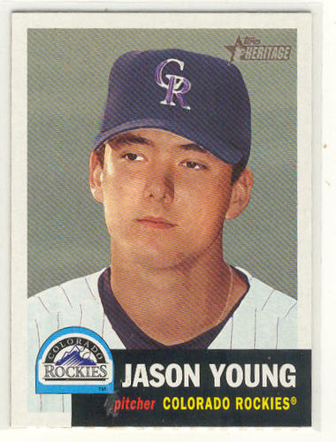 Photo of 2002 Topps Heritage #79 Jason Young RC