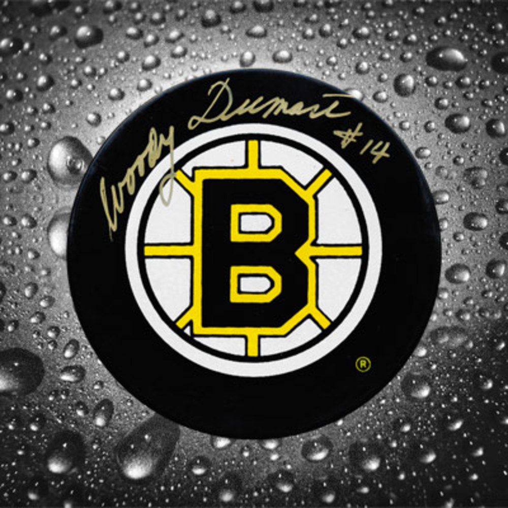 Woody Dumart Boston Bruins Autographed Puck