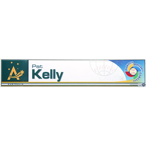 Photo of 2006 Inaugural World Baseball Classic: Pat Kelly Lockert Tag (AUS) Game-Used Locker Name Plate