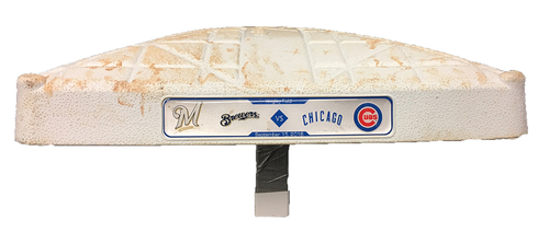 Photo of Game-Used 3rd Base -- Used Innings 1 through 4 -- Brewers vs Cubs -- 9/15/16 -- Cubs World Championship Season