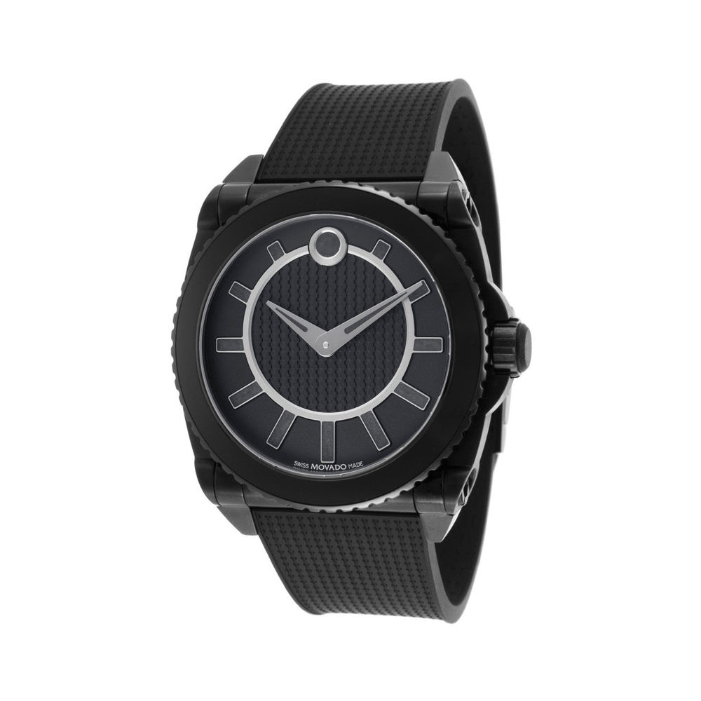 New Movado Men's 0606731 Master Automatic Gravity 42mm Black Rubber Black Dial