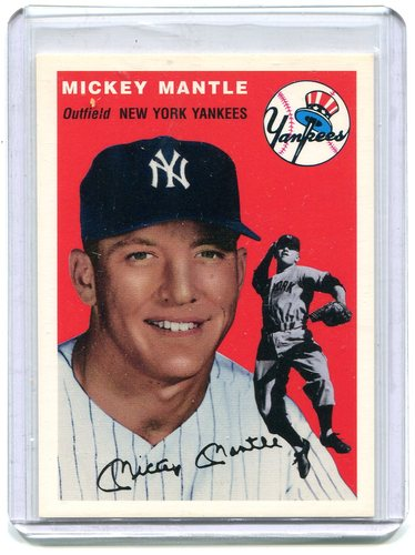 Photo of 1994 Upper Deck All-Time Heroes 1954 Archives #259 Mickey Mantle