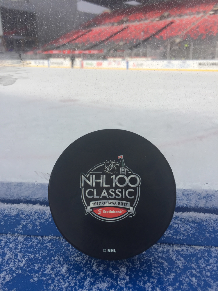 Ottawa Senators 2017 NHL100 Classic Practice-Used Puck - Used During December 15, 2017 Practice Session