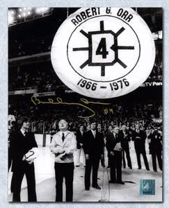 Bobby Orr Boston Bruins Autographed Banner Raising Night 8x10 Photo: GNR COA