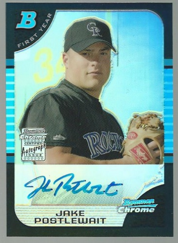 Photo of 2005 Bowman Chrome Refractors #334 Jake Postlewait AU