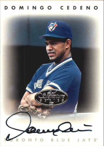Photo of 1996 Leaf Signature Autographs Silver #42 Domingo Cedeno