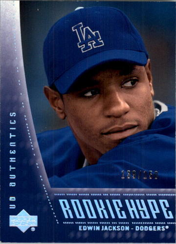 Photo of 2003 UD Authentics #134 Edwin Jackson RH RC