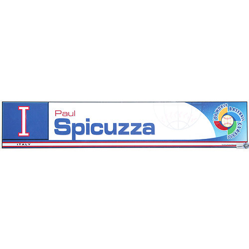 Photo of 2006 Inaugural World Baseball Classic: Paul Spicuzza Locker Tag (ITA) Game-Used Locker Name Plate