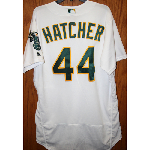 """Photo of Chris Hatcher Game-Used """"Atleticos"""" Jersey"""