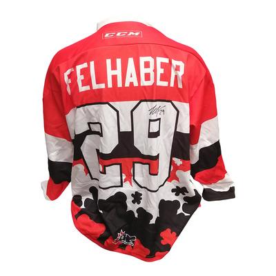#29 Tye Felhaber Game Worn Teddy Toss Theme Jersey