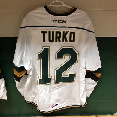 Alex Turko 2016-2017 White Game Jersey