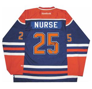 Darnell Nurse - Signed Edmonton Oilers Blue Jersey