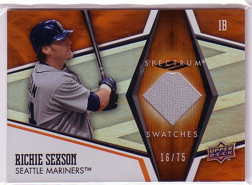 Photo of 2008 Upper Deck Spectrum Spectrum Swatches Orange #RS Richie Sexson