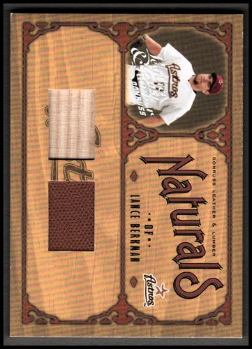 Photo of 2005 Leather and Lumber Naturals Combos #12 Lance Berkman Bat-Jsy/100